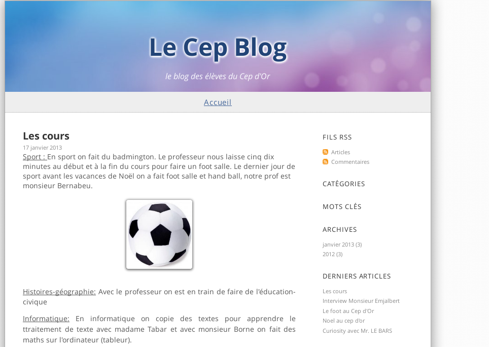 Blog des élèves