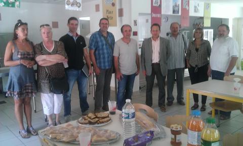 RENTREE 2014 – Visite des élus de Clermont-l'Hérault au Cep d'Or